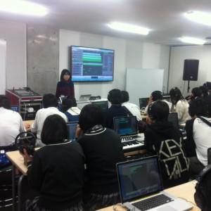 音楽制作ソフトLogicの指導